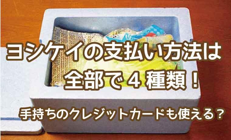 ヨシケイ-支払方法
