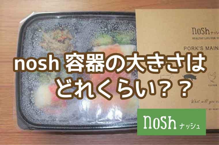 nosh(ナッシュ)容器の大きさ